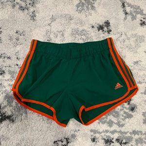 Adidas Orange & Green Running Shorts